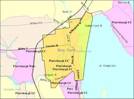 Plattsburgh Map