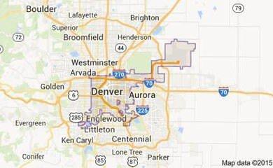 Denver CO Map Image