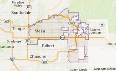 Mesa AZ Map Image