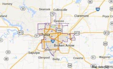 Tulsa OK Map Image