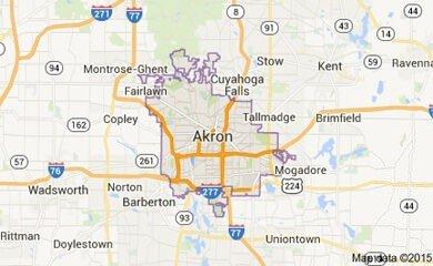 Akron Map