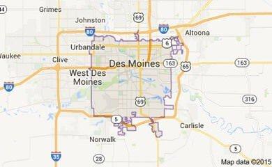 Des Moines ia Map Image