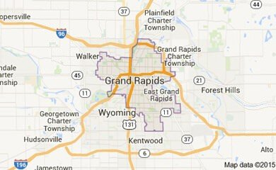 Grand Rapids Mi Map Image