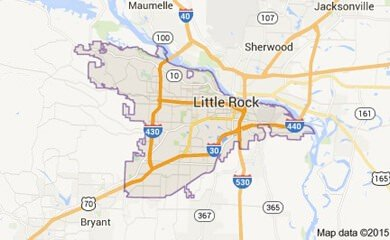 Little Rock Ar Map Image