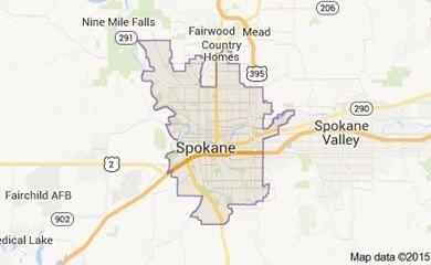 Spokane Map Image