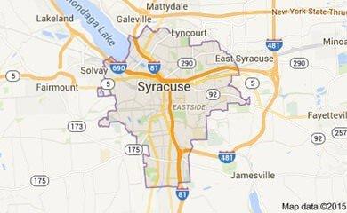 Syracuse Ny Map Image