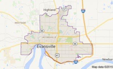 evansville-in-map