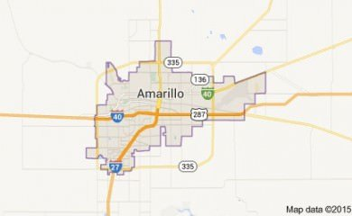 Amarillo Tx Map Image