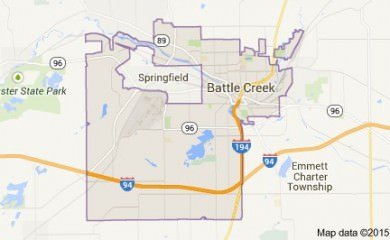 Battle Creek Mi Map Image