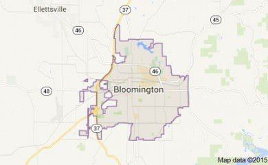 Bloomington In Map Image
