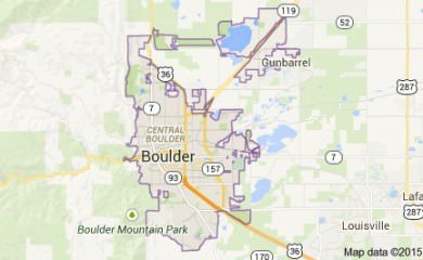 Boulder Co Map Image