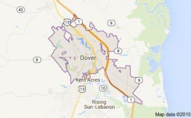 Dover De Map Image