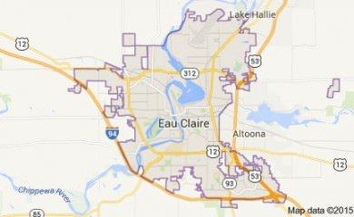 Eau Claire Wi Map
