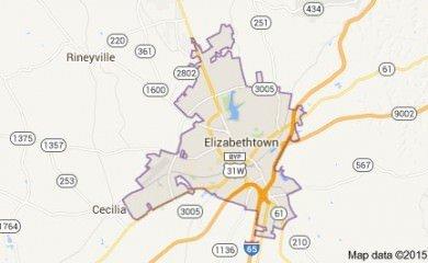 Elizabethtown Ky Map