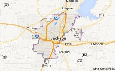Jackson Ms Map Image