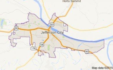 Jefferson City Mo Map Image