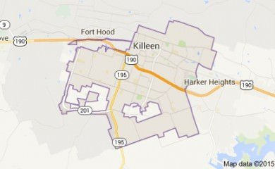 Killeen Tx Map Image