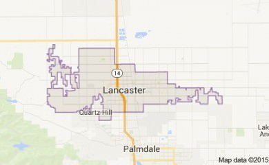 Lancaster Ca Map Image