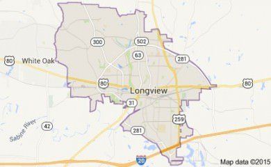 Longview Tx Map Image