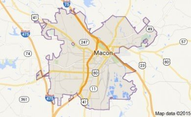 Macon Ga Map Image