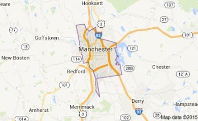 Manchester Nh Map Image