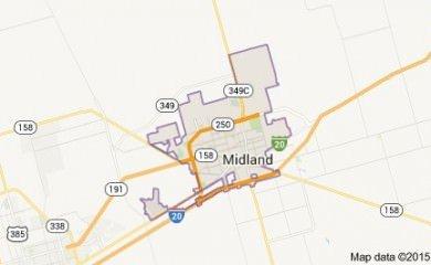 Midland Tx Map Image