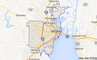 Mobile Alabama Map
