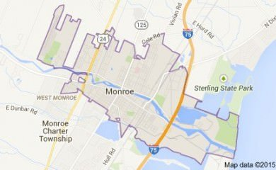 Monroe Mi Map Image
