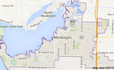 Muskegon Mi Map Image