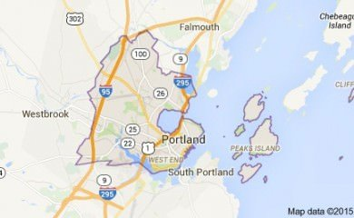 Portland Me Map Image