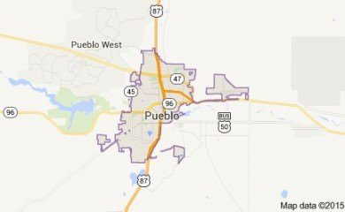Pueblo CO Map
