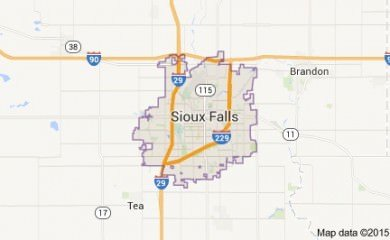 Sioux Falls Sd Map Image