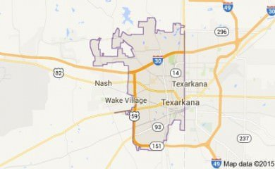 Texarkana Tx Map Image