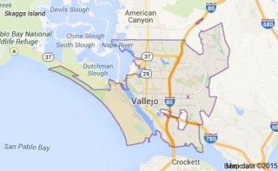 Vallejo Ca Map Image