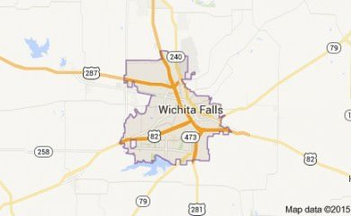 wichita falls tx map image