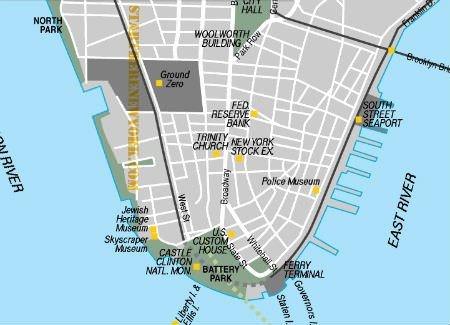 South Street Seaport map